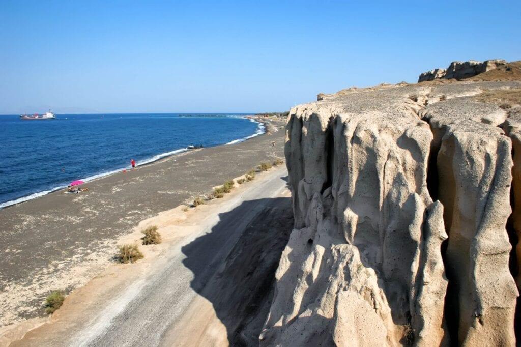 Plage de Monolithos, Santorin
