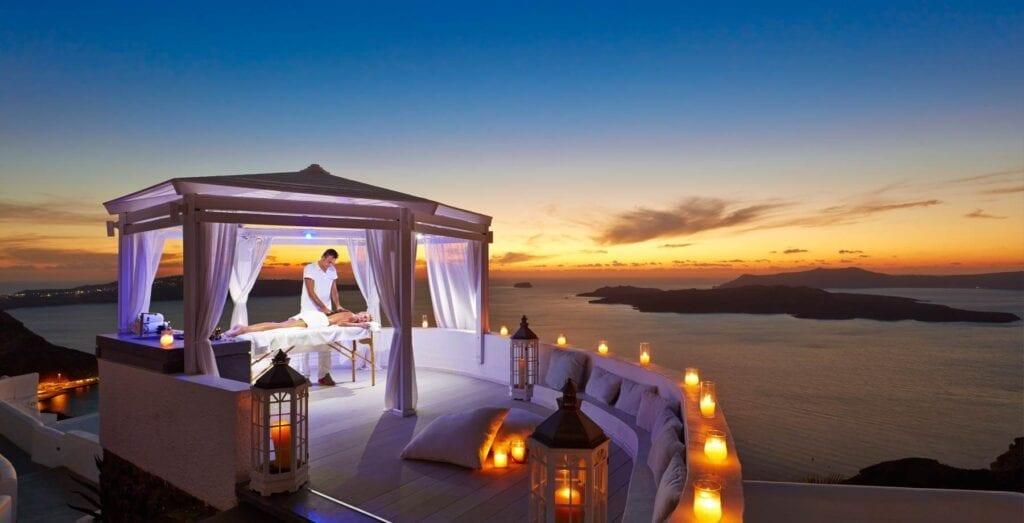 Hôtels avec vue sur la caldeira à Santorin